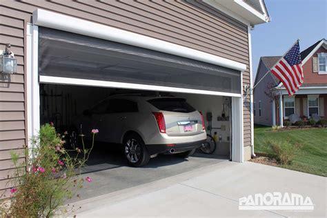 retractable garage door screen retractable garage screen stoett