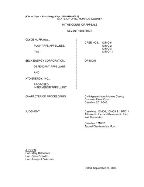 Trial Brief Pages Template California by Oh 7th District Court Of Appeals Decision In Hupp V Beck