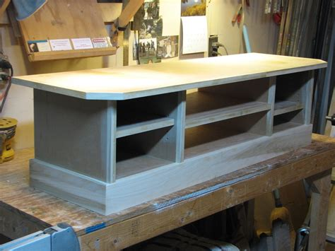 custom  tv stand  ben whitbeck woodworking