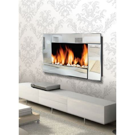 mirrored fireplace wall small house interior design