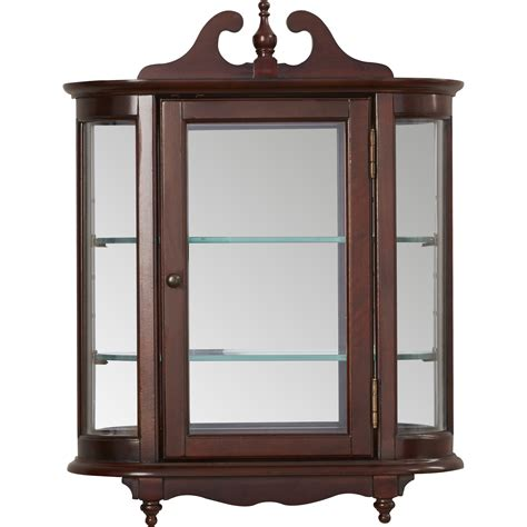 wall mounted china cabinet rosalind wheeler cheshire wall mounted curio cabinet