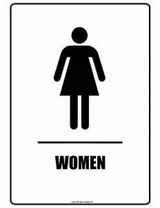 restroom signs printable clipart best With women only bathroom sign