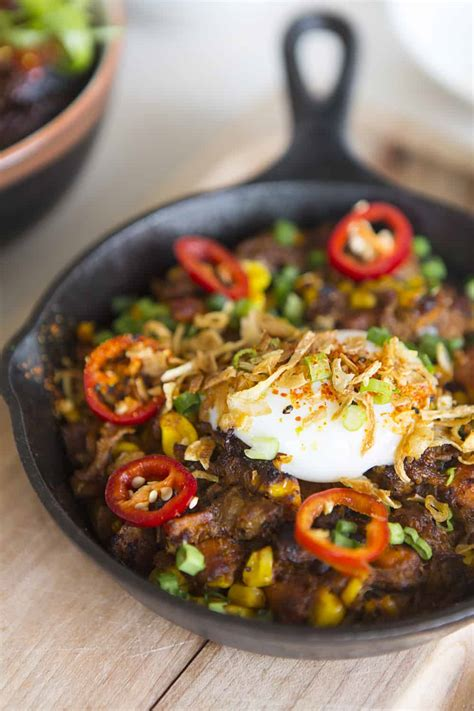 korean steak eggs bowl