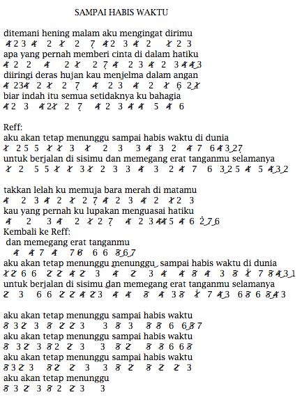 not pianika lagu laskar pelangi not angka lagu terbaru not angka lagu