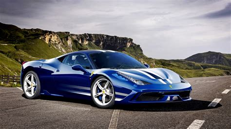 Ferrari 458 Speciale Italia Blue Supercar 4k Hd Wallpaper