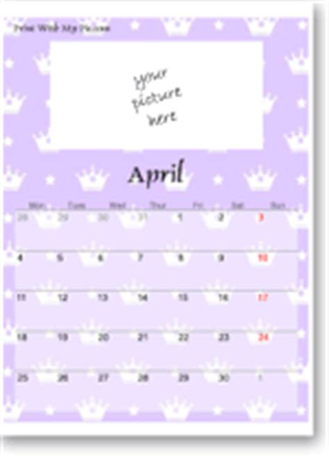cute calendar templates add picture cute calendars
