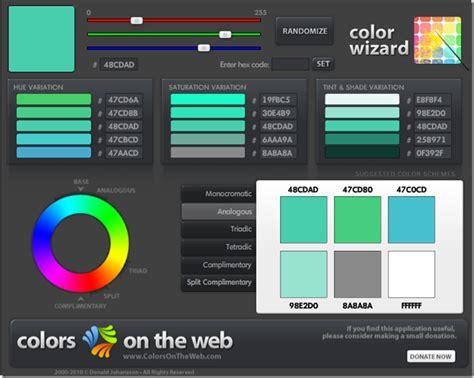 color palette generators    design   pro evolutionary designs