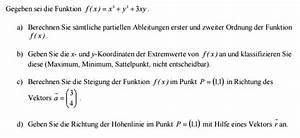 Partielle Ableitung Berechnen : extremwert partielle ableitungen extremwerte steigung ~ Themetempest.com Abrechnung