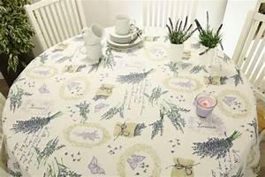 Abwaschbare Tischdecke Rund : runde abwaschbare tischdecke lavendel mediterran lona ~ Michelbontemps.com Haus und Dekorationen