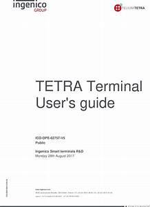 Report Ico Ope 02757 Tetra Terminal User Guide V5 5