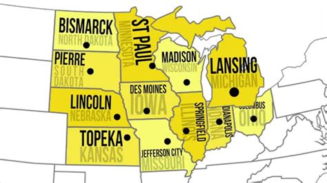 midwestern capitals states youtube