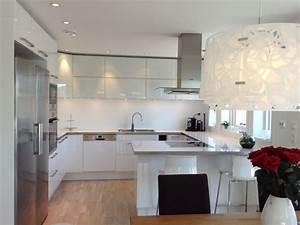 Ikea Küche Inspiration : ikea hvit h yglans kj kken google s k k che pinterest ikea k che k che und k chen ideen ~ Watch28wear.com Haus und Dekorationen