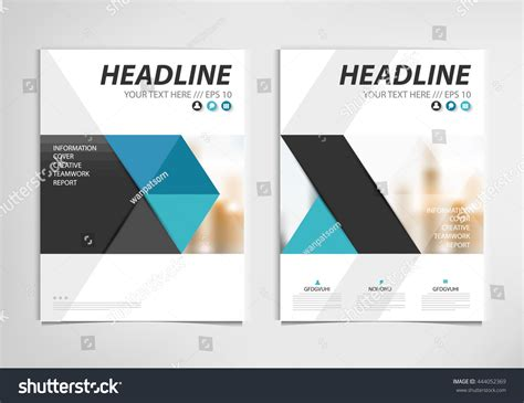 Book Report Brochure Template by Blue Annual Report Brochure Template Design Stock Vector