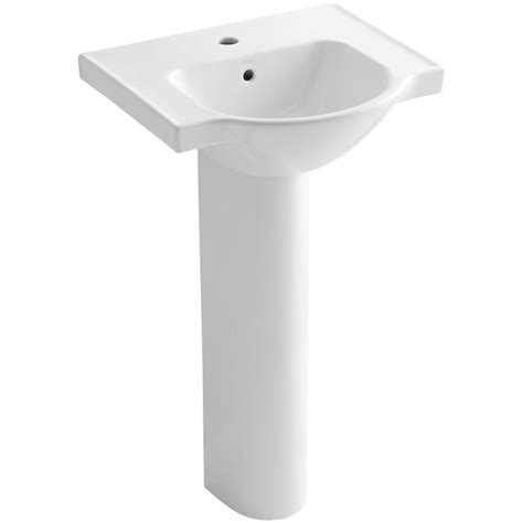 bathroom sink drain home depot kohler veer vitreous china pedestal combo bathroom sink in