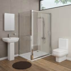 en suite bathrooms ideas pro en suite bathroom package with 1200mm sliding enclosure