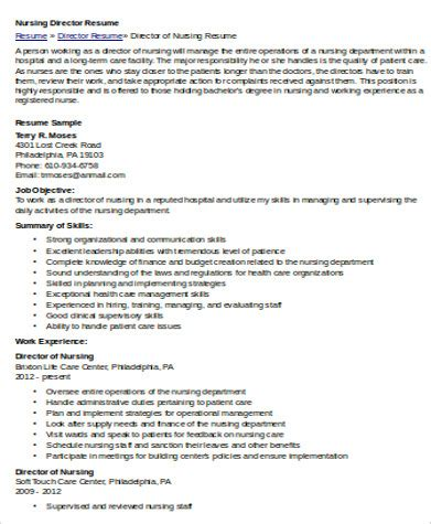 nursing resume objective sle 8 exles in word pdf