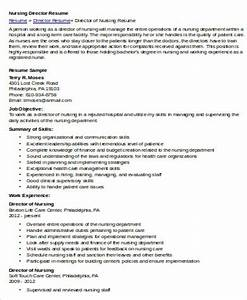 nursing resume objective sample 8 examples in word pdf With director of nursing resume