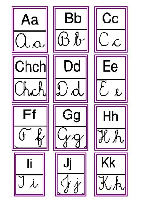 abecedario imprenta y cursivo