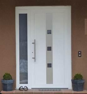 Porte Vitrée Pvc : porte d 39 entree pvc gealan blanc chassis pvc ~ Melissatoandfro.com Idées de Décoration
