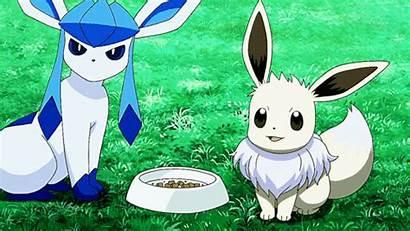Shiny Pokemon Glaceon Eevee Gifs Animated Qr