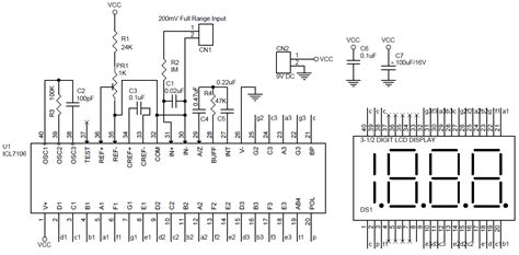 Lcd Dpm Digital Panel Meter Using Icl Circuit