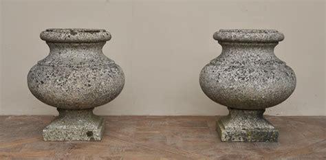 antique pair of garden vases in granite planters vases