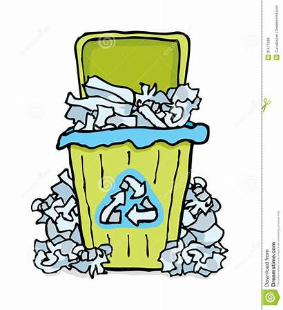 Recycling Paper Bin Clipart Recycle Wheelie Waste