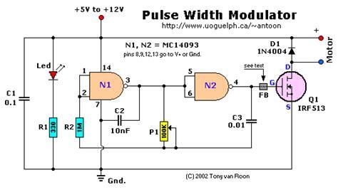 pulse width modulator   mc schmitt trigger nand