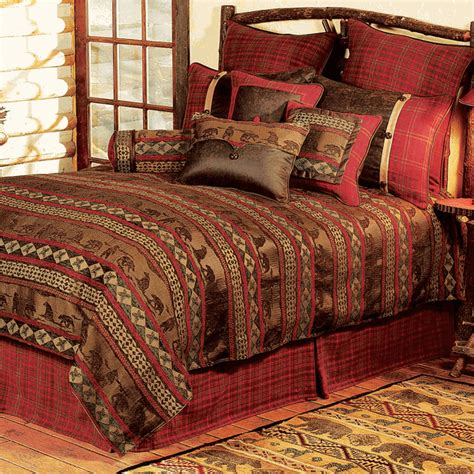 Rustic Bedding King Size Cascade Lodge Bed Setblack