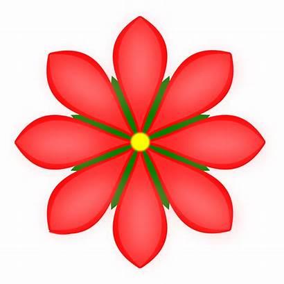 Flower Clipart Petal Clip Vector Flores Flowers