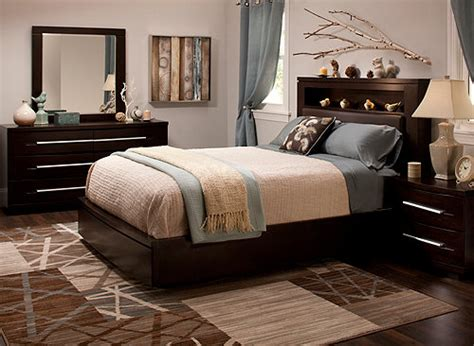 raymour and flanigan wall wall 4 pc king bonded leather platform bedroom set 7630
