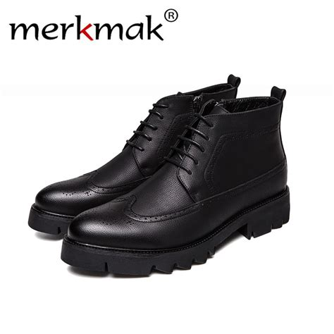 Merkmak Business Casual Boots Genuine Leather Men