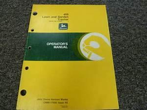 Operator Parts Manual For John Deere 318 Lawn Garden