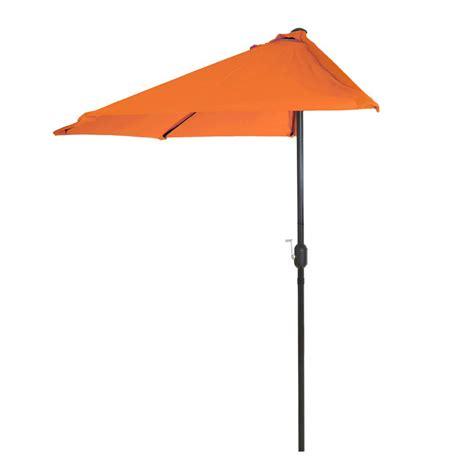 pure garden  ft   patio umbrella  orange hw  home depot