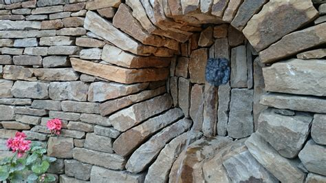 stone inspired dry stone walling garden design