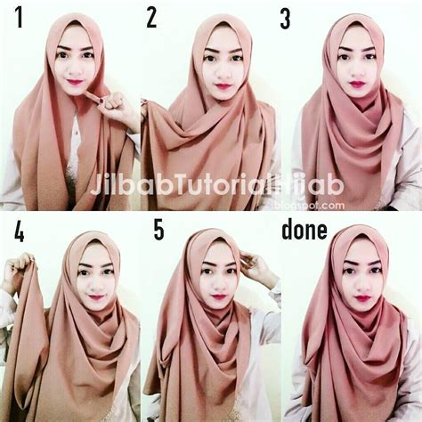 gambar tutorial hijab  wajah tirus tutorial hijab