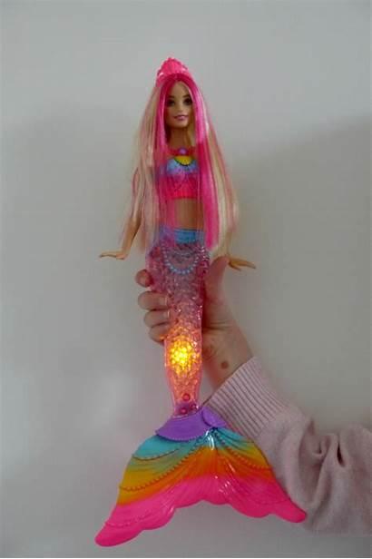 Lights Barbie Mermaid Doll Rainbow Flashing Barbies