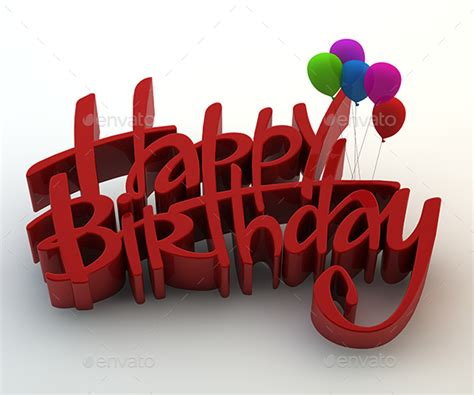 3d Happy Birthday Photo by Happy Birthday 3d Text By Gokcengulenc Graphicriver