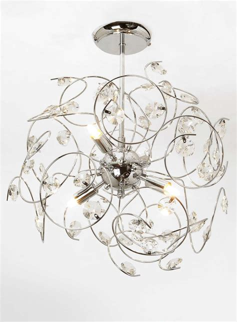lila sputnik flush ceiling light open plan living