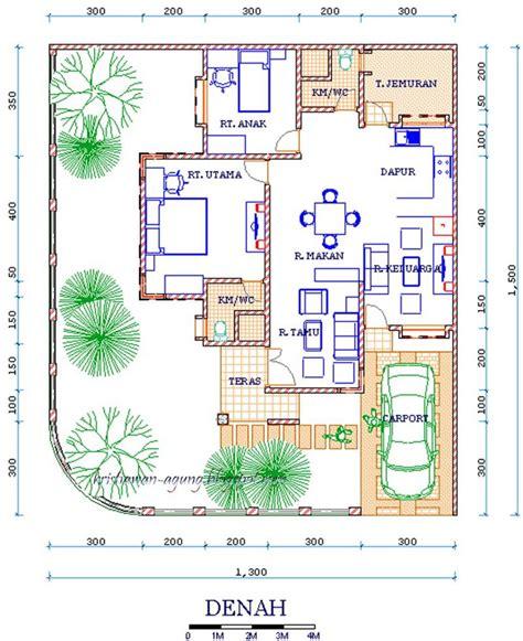 denah rumah minimalis mewah  lantai gambar desain