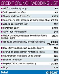 the credit crunch bride who wore a gbp50 wedding dress says With wedding invitation average cost uk