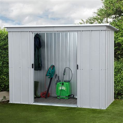 pent metal shed 7 5 quot x 3 5 quot pent metal shed free anchor kit 2 24m x 1