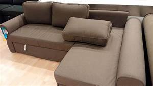 Manstad sectional sofa bed storage from ikea for Sectional sofa with bed and recliner