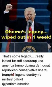 Obama's Legacy Wiped Out in 1 Week! That's Some ...