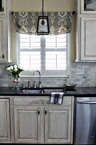 20 beautiful window treatment ideas for kitchen and With kitchen colors with white cabinets with window cover sticker