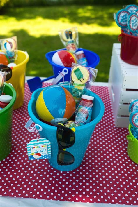 Kara's Party Ideas Colorful Pool Themed Birthday Party Via