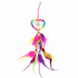 Dream Catcher-Heart-Shaped with Feathers Wall or Car