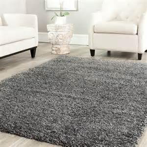 livingroom rug power loomed solid grey shag area rug 8 39 x 10 39 ebay