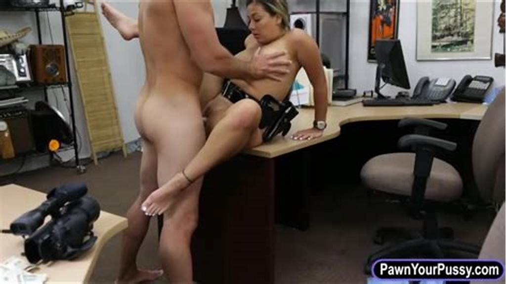 #Latina #Police #Officer #Fucked #By #Pawn #Guy #In #The #Backroom