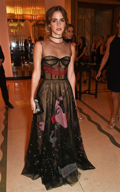 Emma Watson Wore Witchy Dior Ball Gown For Halloween